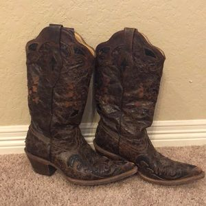 Corral Vintage Lizard leather boots